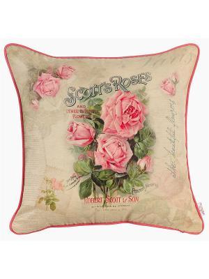 Декоративная наволочка Розовое очарование Apolena. Цвет: розовый