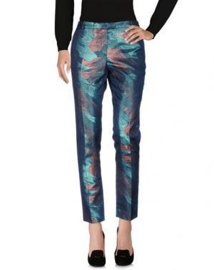 Повседневные брюки MAJE. Цвет: цвет морской волны