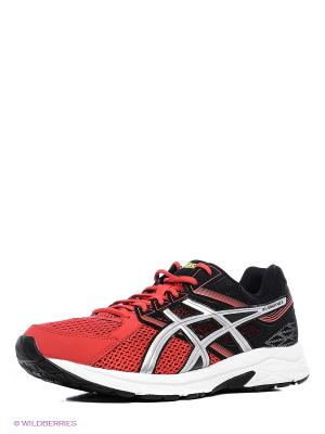 Кроссовки GEL-CONTEND 3 ASICS. Цвет: красный, серебристый, черный