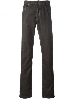 Классические джинсы Massimo Alba. Цвет: серый