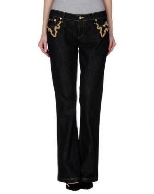 Джинсовые брюки ANTIK DENIM. Цвет: черный