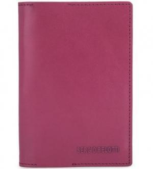 Кожаная обложка для паспорта Sergio Belotti. Цвет: фуксия