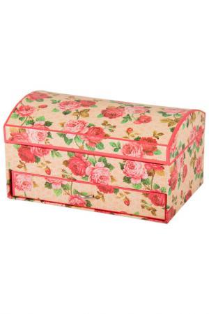 Шкатулка для украшений Русские подарки. Цвет: белый, розовый