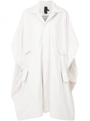Пальто свободного рубашечного кроя Bernhard Willhelm. Цвет: белый