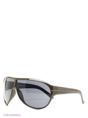 Солнцезащитные очки United Colors of Benetton. Цвет: черный, оливковый