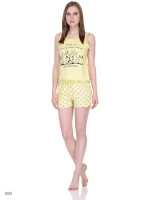 Хлопковая пижама t-sod. Цвет: желтый
