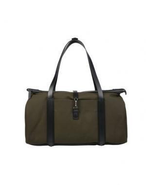 Дорожная сумка MISMO. Цвет: зеленый-милитари