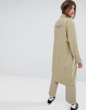 Stussy Пальто. Цвет: зеленый