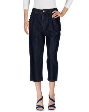 Джинсовые брюки-капри BEA. Цвет: синий