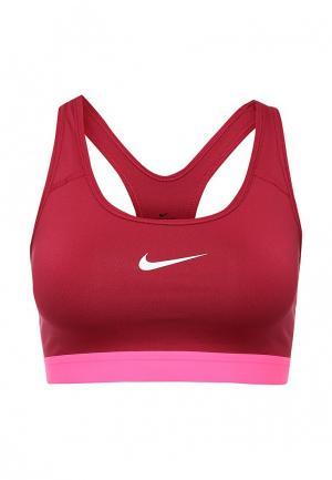 Топ спортивный Nike. Цвет: бордовый