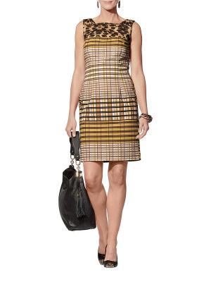 Платье APART. Цвет: горчичный, коричневый, бежевый