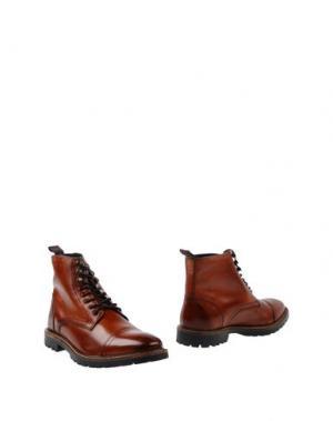 Полусапоги и высокие ботинки BASE London. Цвет: желто-коричневый