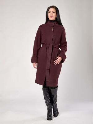 Пальто Best&Best. Цвет: темно-бордовый