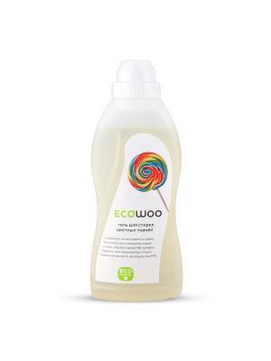 Гель для стирки цветных тканей Ecowoo. Цвет: белый, желтый