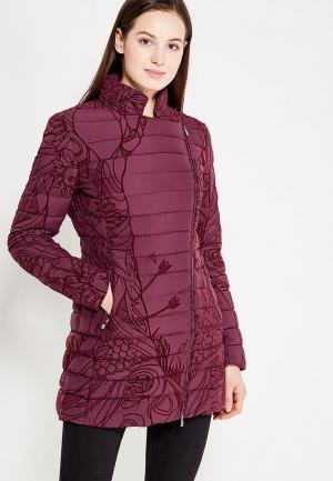 Куртка утепленная Desigual. Цвет: бордовый