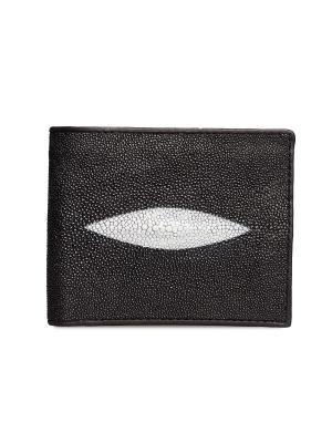 Мужской кошелек из кожи морского ската MEYNINGER. Цвет: черный