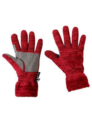 Перчатки AQUILA GLOVE Jack Wolfskin. Цвет: красный