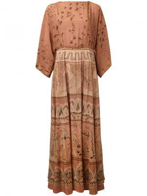 Вечернее платье Jungle Of Delight Valentino. Цвет: розовый и фиолетовый