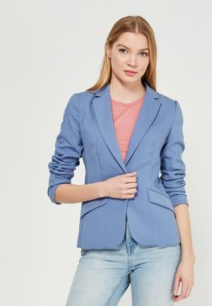 Пиджак Zarina. Цвет: голубой