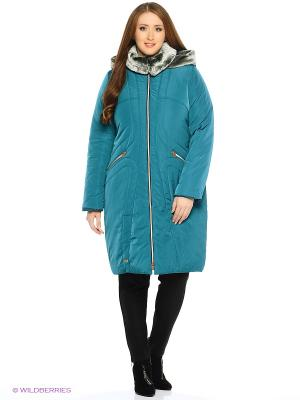 Стеганое пальто D`imma. Цвет: морская волна
