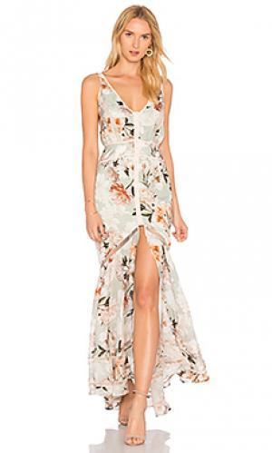 Платье-блузон magnolia We Are Kindred. Цвет: серовато-зеленый