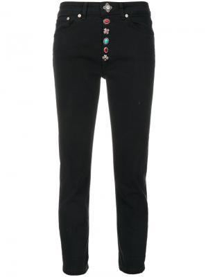 Декорированные джинсы Dondup. Цвет: чёрный