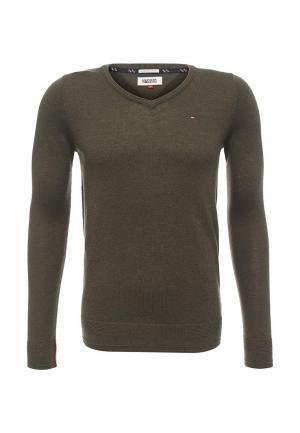 Пуловер Tommy Hilfiger Denim. Цвет: хаки
