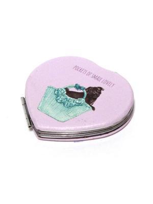 Зеркальце карманное Eleon. Цвет: голубой, сиреневый