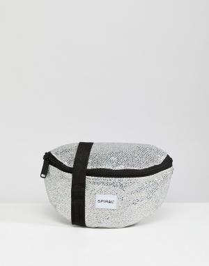 Spiral Сумка-кошелек на пояс Glamour. Цвет: серебряный