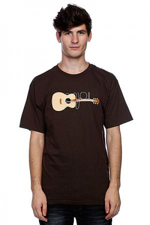 Футболка  Guitarded Dark Chocolate Enjoi. Цвет: коричневый