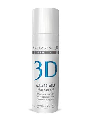 ГЕЛЬ ПРОФ Aqua Balance 30 мл Medical Collagene 3D. Цвет: белый, голубой