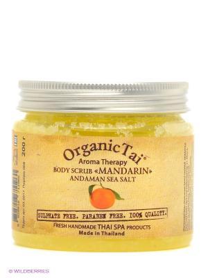 Соляной скраб  Мандарин Organic Tai. Цвет: желтый