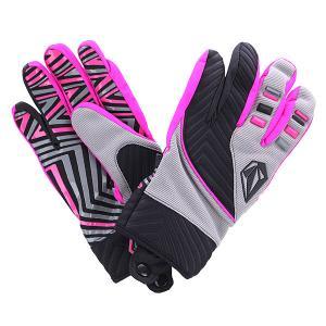 Перчатки сноубордические  Atlantic Pipe Grey Volcom. Цвет: серый,розовый,черный