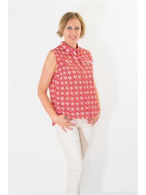 Блузка Brava Catalan. Цвет: красный