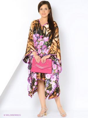 Платье - туника LIZA MACCONY. Цвет: коричневый