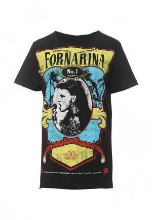 Футболка Fornarina. Цвет: черный