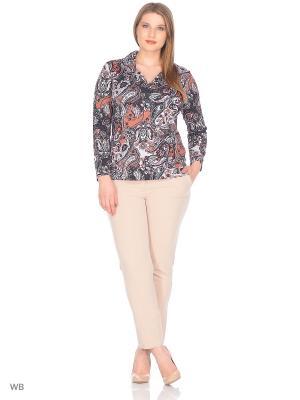 Блузка СТиКО. Цвет: серый, лиловый, сиреневый