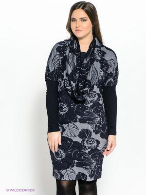 Платье Amelia Lux. Цвет: темно-синий, серый
