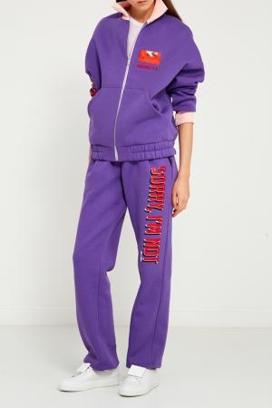 Фиолетовая куртка-бомбер Sorry, i'm Not. Цвет: фиолетовый