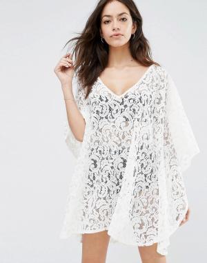 Melissa Odabash Пляжное платье в стиле кроше Ignes. Цвет: кремовый