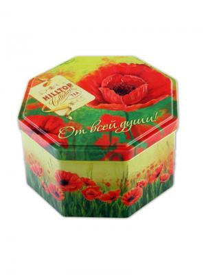 Чай Hilltop 8-гранная банка Маков цвет Подарок Цейлона 150 гр.. Цвет: черный