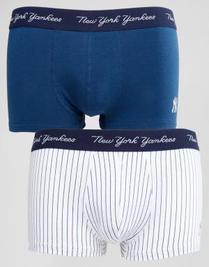 New York Yankees Набор из 2 боксеров-брифов Yankee. Цвет: темно-синий