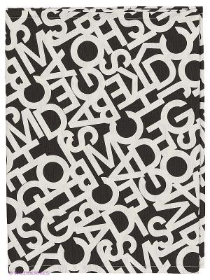 Скатерть Albo black 40х180 T&I. Цвет: черный, белый