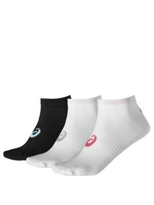 Носки 3PPK PED SOCK ASICS. Цвет: белый, розовый, черный