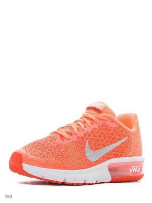 Кроссовки NIKE AIR MAX SEQUENT 2 (GS). Цвет: красный, оранжевый