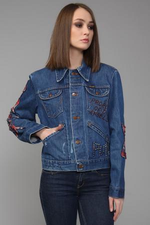 Куртка джинсовая The Great China Wall. Цвет: синий