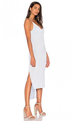 Платье edith YFB CLOTHING. Цвет: синий