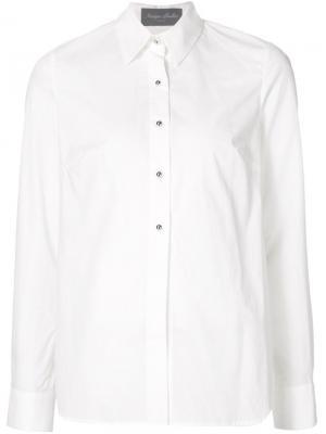 Рубашка с кружевной спинкой Monique Lhuillier. Цвет: белый