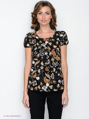 Блузка adL. Цвет: черный, коричневый, темно-бежевый