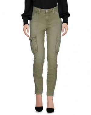 Повседневные брюки L'AGENCE. Цвет: зеленый-милитари